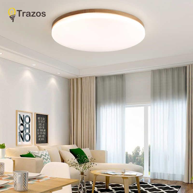 Holz Led Decke Beleuchtung Decke Lampen Fur Die Wohnzimmer