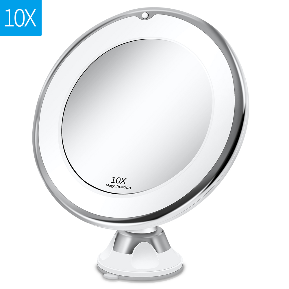 Makeup Vanity Mirror With 10X Lights LED Magnifying Mirror Cosmetic Mirrors Light Magnification LED Make up Mirrors Grossissant 11