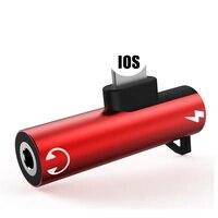 Adaptador divisor de Audio 2 en 1, Conector de carga para iPhone X XR XS 11 Pro Max 7 8 Plus SE