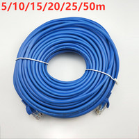 5/10/15/20/25/30/50 cat5 100 m rj45 이더넷 케이블 커넥터 이더넷 인터넷 네트워크 케이블 코드 와이어 라인 블루 rj 45 lan cat5