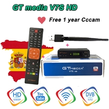 3pc Freesat V7 HD Satellite Receiver with USB WIFI Europe Cccam Cline Italy UK Full HD DVB-S2/S satellite tv decode TV Receiver cccam cline europe dvb s2 freesat v7 satellite tv receiver set top box dvb s2 support powervu cccam youporn with usb wifi