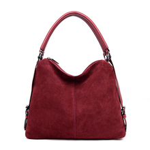 Casual Women's Suede Leather Shoulder Bag Large-capacity Des