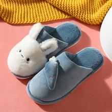 Slippers Indoor Furry Slides Cotton Shoes Bedroom Rabbit Winter Women Cartoon Cute Woman/men
