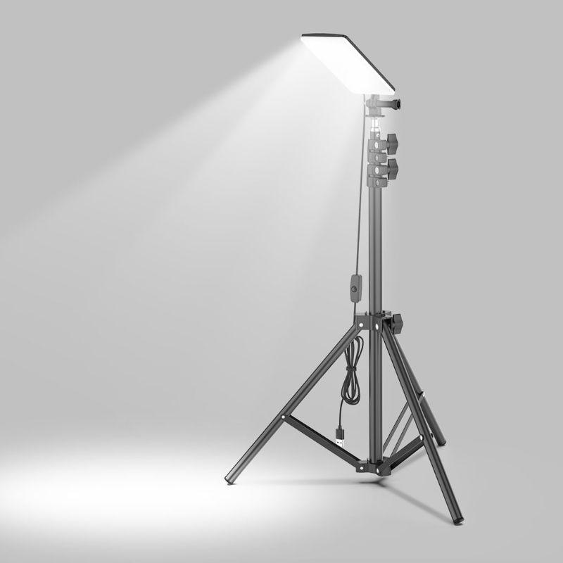 Светодиодная лампа с штативом, 84 светодиосветодиодный, питание от USB, кабель 2 м, для улицы, кемпинга, пикника, дома, прямых трансляций, видео, ...