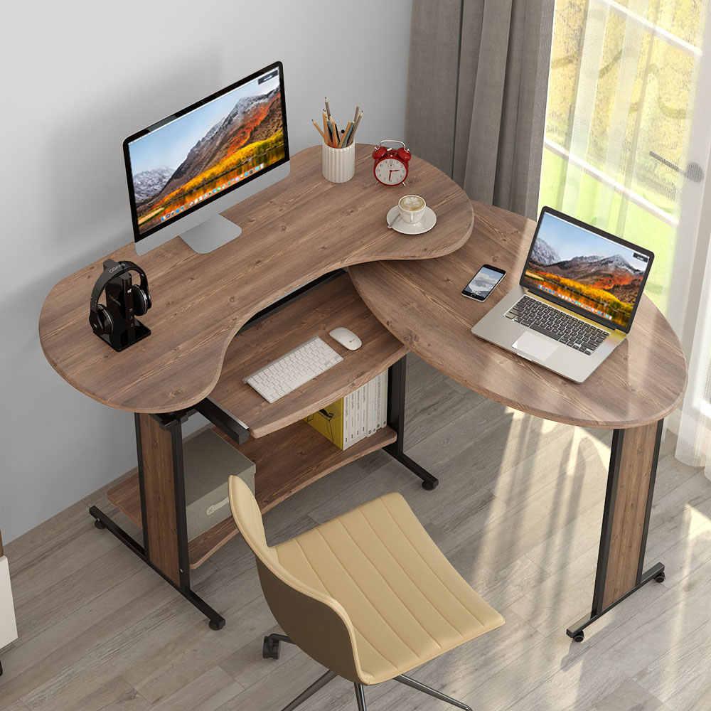 Reversible L Shaped Computer Desk Little Tree Rotating Corner Desk Modern Office Study Workstation For Home Office Living Room Laptop Desks Aliexpress