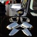 Аксессуары Новое! 6 шт. матовая хромированная крышка зеркала заднего вида боковое зеркало для AUDI A8 S8 D4 2011-2017 автомобильный Стайлинг