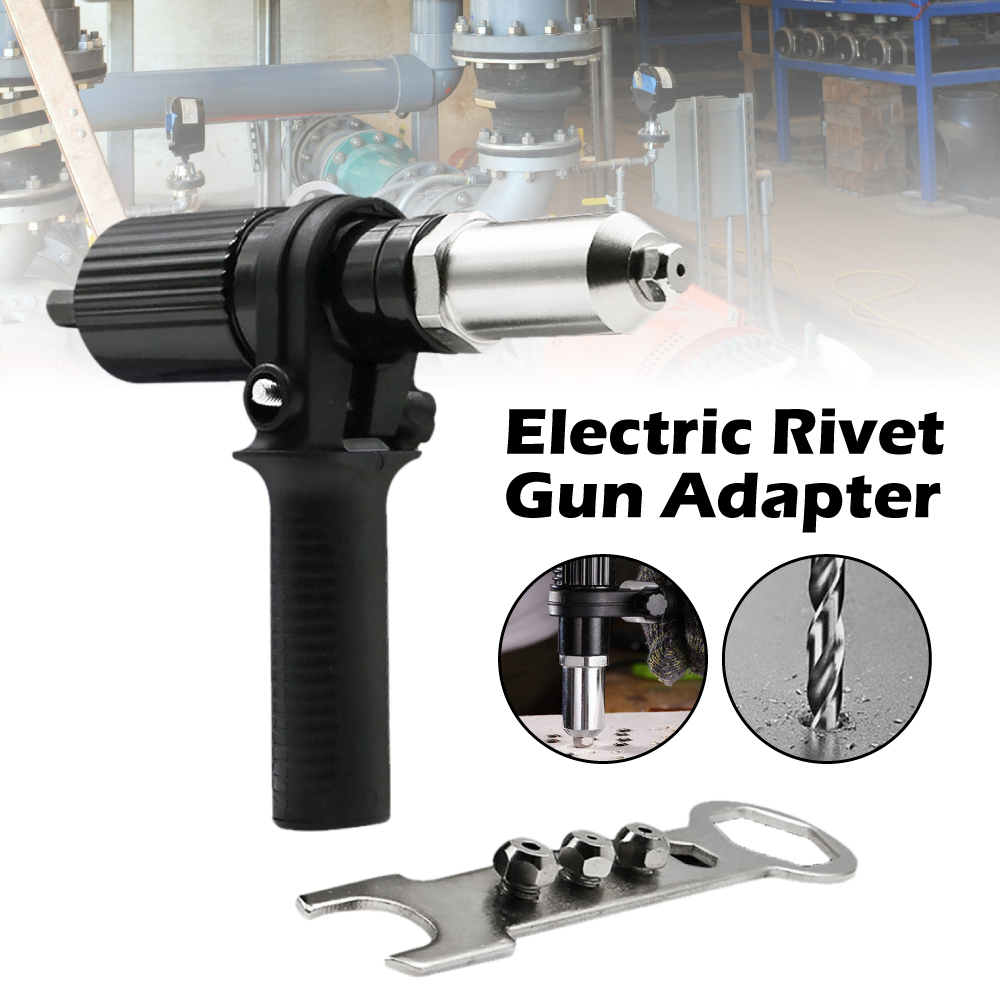 Riveter Adapter 2.4mm-4.8mm Electric Rivet Nut Guns Riveting Tool Black Cordless Rivet Drill Adaptor Insert Nut Tool Rivet Gun