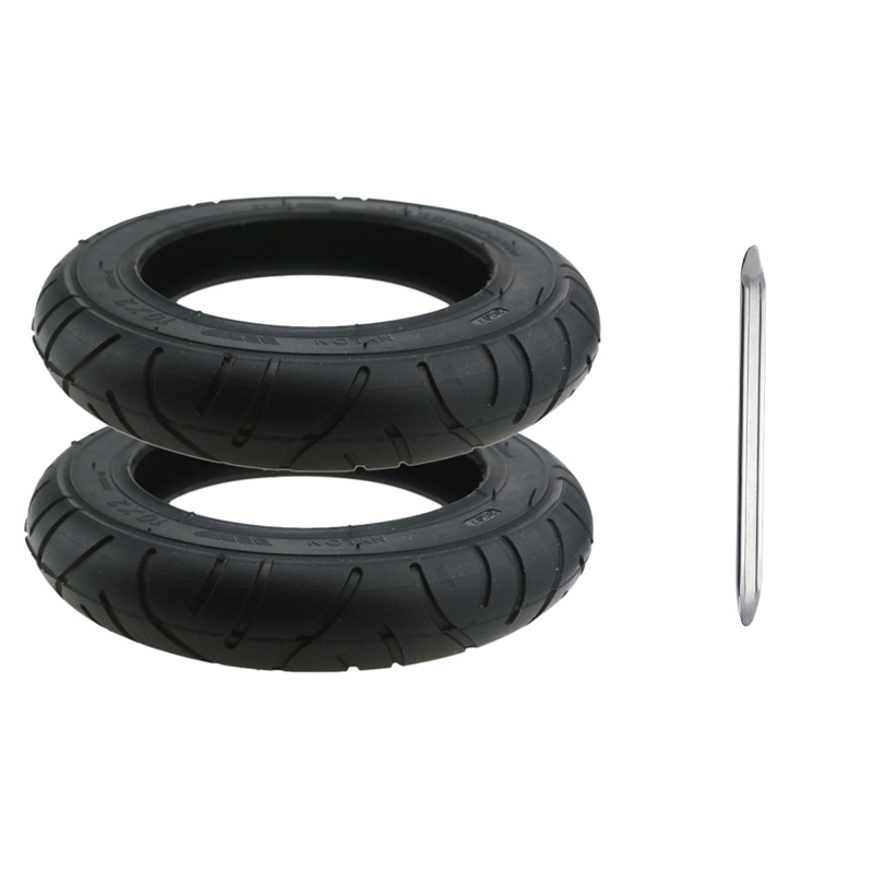 2Pcs For Xiaomi Mijia M365 10 Inch Electric Scooter Tire 10 X 2 Inflatable Solid Tire Wanda Tire With Crowbar