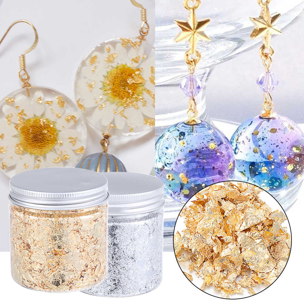 Materials Gold Leaf Flake Resin Mold Fillings Gold Foil Gold Flakes for Resin