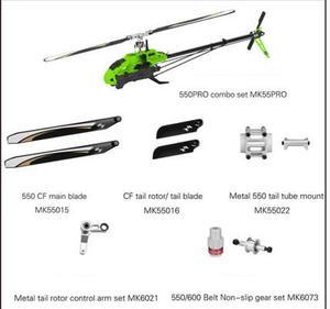 Image 2 - טארוט RC 550 550PRO RC מסוק ערכת גרסה MK55A00 MK55PRO 1048mm שלט רחוק המסוק סיבי פחמן & מתכת מסגרת Flybarless