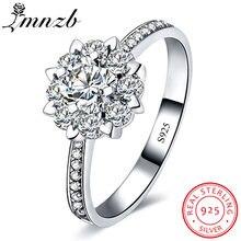 Lmnzb 100% подлинное кольцо Пасьянс из стерлингового серебра