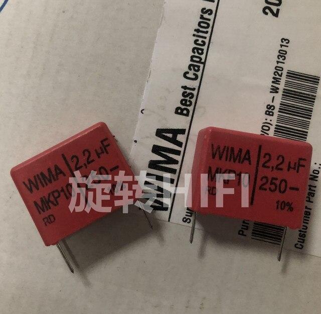 4 adet kırmızı WIMA MKP10 2.2UF 250V p22.5mm orijinal yeni MKP 10 225/250V ses 2200nf film 225 PCM22.5 sıcak satış 2.2 uf/250 v