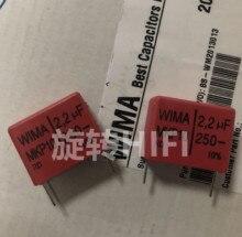 4PCS สีแดง WIMA MKP10 2.2UF 250V p22.5mm ใหม่ MKP 10 225/250V 2200nf ฟิล์ม 225 PCM22.5 ขายร้อน 2.2 UF/250 V