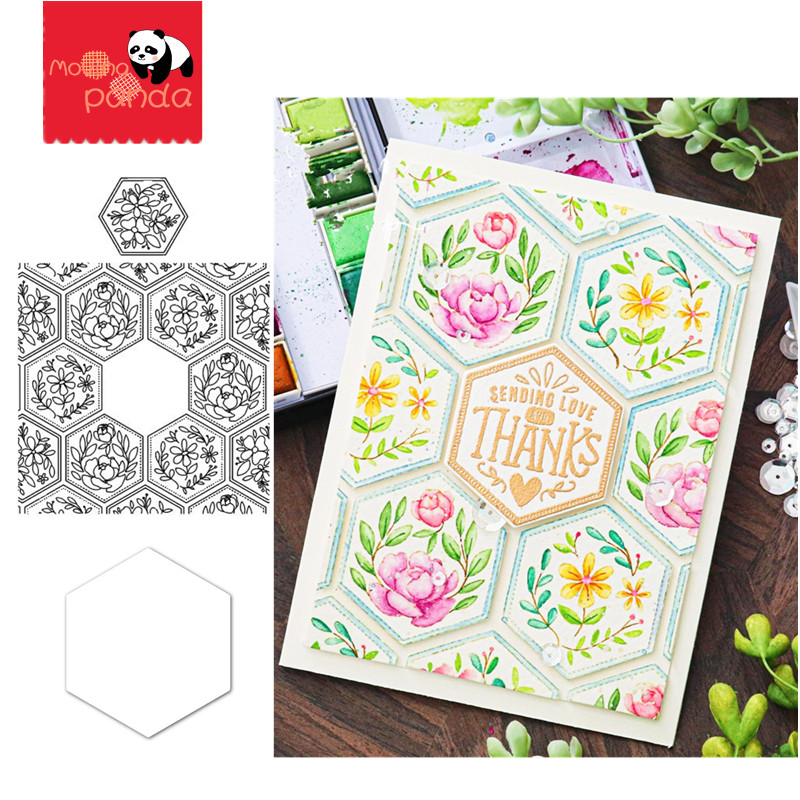 GREETINGS FLOWER Metal Cutting Dies And Stamps Stencils For DIY Scrapbooking/photo Album Decorative Embossing DIY Paper Cards