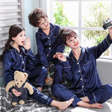 2019 autum and spring pajamas suit family matching outfits mother and daughter son women clothing 120-160-143(China)
