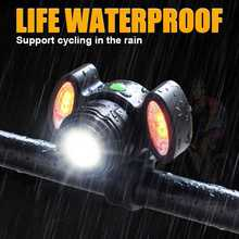 Super Bright Bike Front Light USB Rechargeable 15000LM XML T6 LED Bike Bicycle Light Headlight Cycle Flashlight Bike Accessories usb rechargeable bike head light cree xml t6 led waterproof front light night cycling safety flashing light for bike accessories