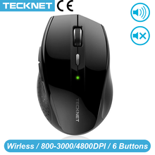 TeckNet Alpha Ergonomic Mice 2.4GHz Wireless Mouse Silent Button with USB Nano Receiver for Laptop Computer 3000/2000/1600/1200