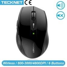 TeckNet Alpha 인체 공학적 마우스 노트북 컴퓨터 용 USB 나노 수신기가있는 2.4GHz 무선 마우스 무음 버튼 3000/2000/1600/1200
