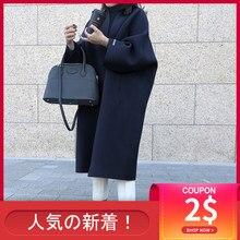 Корейская женская тонкая куртка, Женская Повседневная Свободная однотонная верхняя одежда, новая модная теплая длинная куртка, весенне-осе...