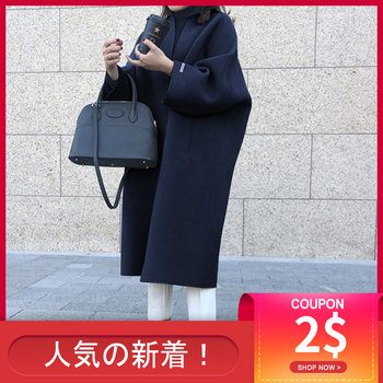 Korean Women Thin Overcoat Female Casual Loose Solid Color Outwear New Fashion Warmness Long Coats Spring Autumn Oversize Tops new fashion women female korean short type long sleeve slim motor zipper leather jackets coats