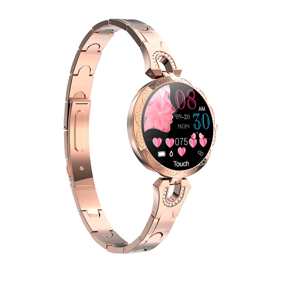 Scomas moda feminina relógio inteligente 1.08