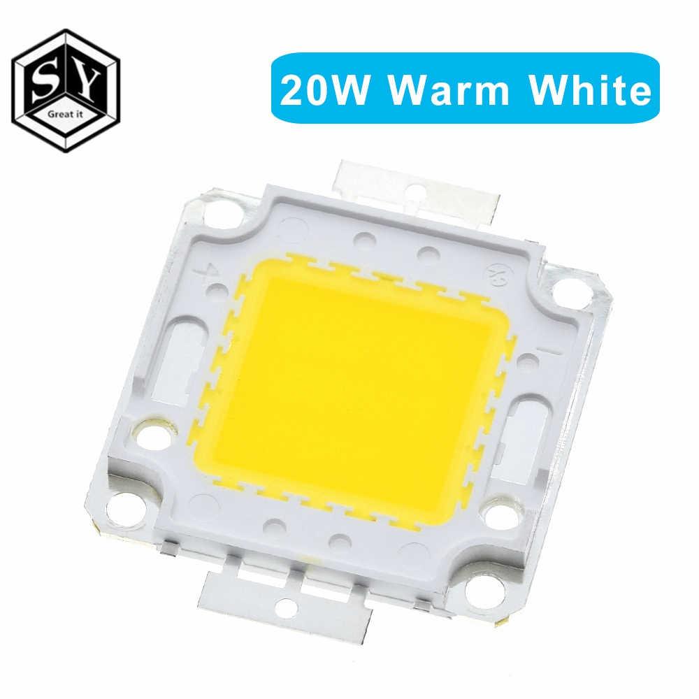 Trắng/Trắng Ấm 10W 20W 30W 50W 100W Đèn Led Chip DC 12V 36V COB Tích Hợp Đèn Led Chip DIY Pha Đèn Trợ Sáng Bóng Đèn