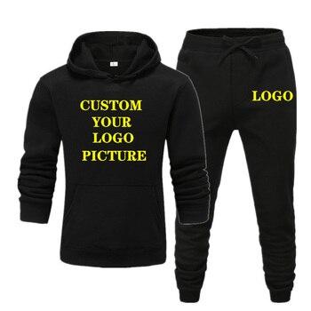 New Brand Men Track Suit Jogging Sportswear Set Autumn Winter Fahion Printed Women Hoodies Pants Custom Your Logo