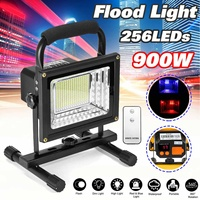 900W 256 LED Rechargeable Floodlight Waterproof Spot Work Camping Outdoor Handheld Work Lights Power By 18650 Portable Lantern