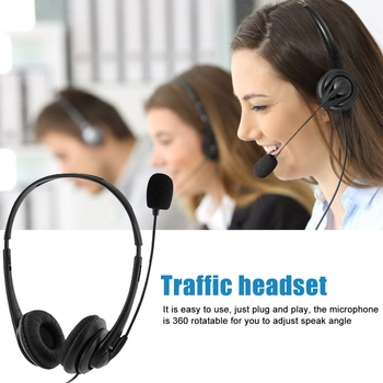 USB Telephone/Computer Headset with Microphone Noise Cancelling and Volume Controls for Computer Laptop PC - discount item  29% OFF Portable Audio & Video
