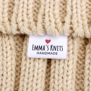 Custom Sewing label, Logo or Text - fold Tags, Personalized Brand , Printing Labels, sew on label (MD3089)