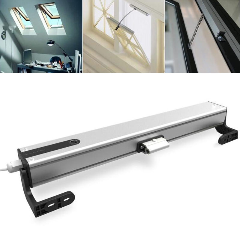 Electric Window Opener 2/4 Wires Motor Curtain Blinds Control Accessories AM56-L250N-400mm AC110V-220V Window Opener