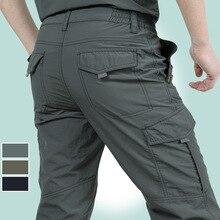 QNPQYX New Men Tactical cargo Trousers Outdoor Quick Dry Hik