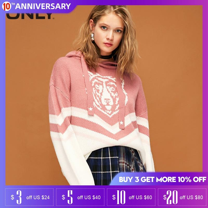 ONLY Women Spring Tiger Head Printed Sweater | 119113524