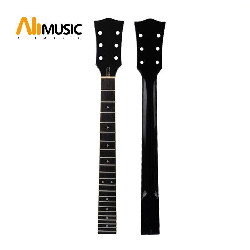 22 frette érable palissandre touche guitare cou avec point blanc reliure guitare cou pour LP guitare électrique remplacement noir brillant