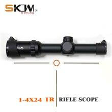 SKWoptics 1-4x24IR tactical rifle scope Hunting Tactical riflescope Sight .223 .