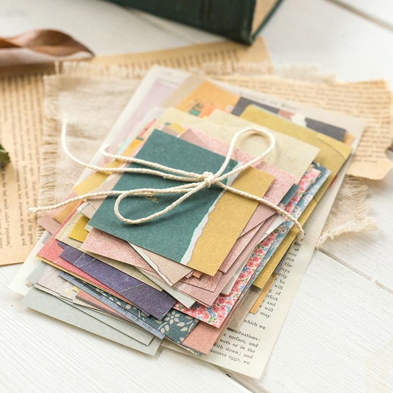 50/60 листов ретро цветочный материал бумага декоративный материал бумажный журнал альбом-ежедневник кавайные канцелярские школьные принад...