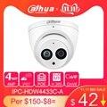 Dahua IPC-HDW4433C-A 4MP HD POE red plantilla IR Mini domo IP cámara incorporada MiC Cámara ONVIF CCTV reemplazar IPC-HDW4431C-A