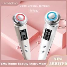EMS odmładzanie skóry masaż twarzy elektroporacja Lifting Beauty usuń zmarszczki Anti-Aging częstotliwość radiowa napinanie skóry pielęgnacja tanie tanio Lemecima CN (pochodzenie) ABS + electronic components do czyszczenia twarzy akumulator 16 8 * 4 3cm LED Beauty Instrument