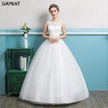 Wedding Dress 2019 Spring and Summer New Brides Shoulder-to-shoulder V-neck Slim Elegant