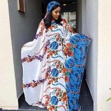 Этнические африканские платья для женщин Мода Shenbolen Aso Oke головной убор Анкара длинная рубашка Дашики платье шифон пляж Сарафан
