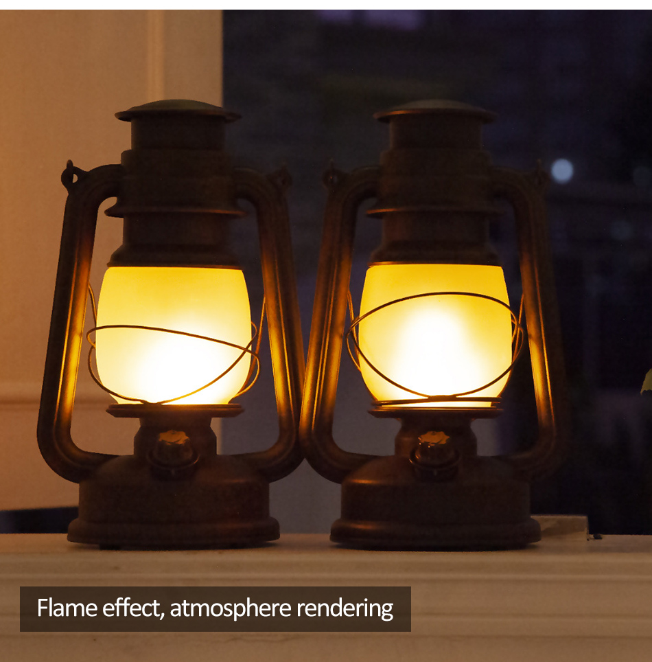 Novo led lâmpada portátil do vintage rc
