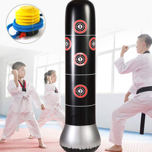 Inflatable Tumbler Punching Sandbag Fitness Bag Boxing Target Column Adults Pressure Relief Tool