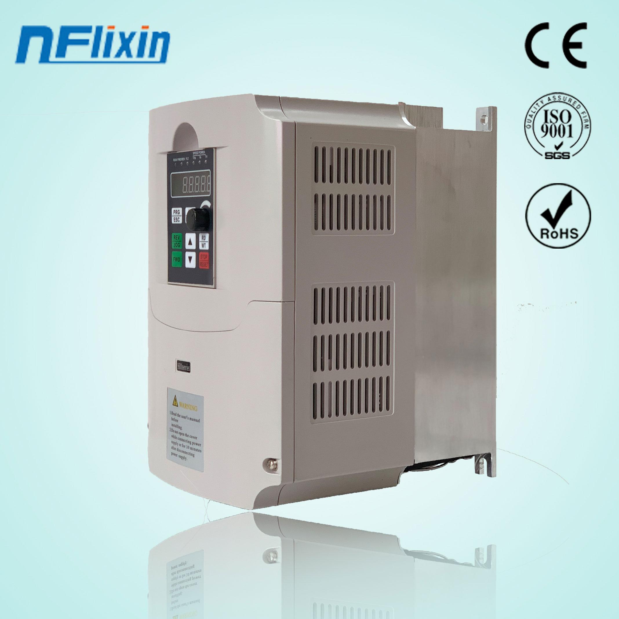 7.5KW 10HP 400HZ VFD Inverter Frequenz konverter einzigen phase 220v eingang 3phase 380v ausgang 18A für 7.5HP motor