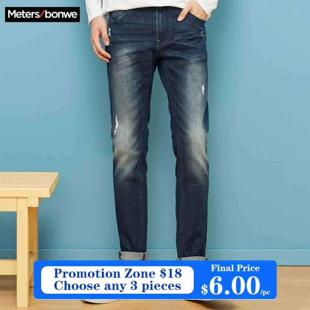 Metersbonwe Straight Jeans Men Spring Autumn New Casual Youth Trend Slim Jeans Mens Pants Men Hole Trousers Jeans Aliexpress