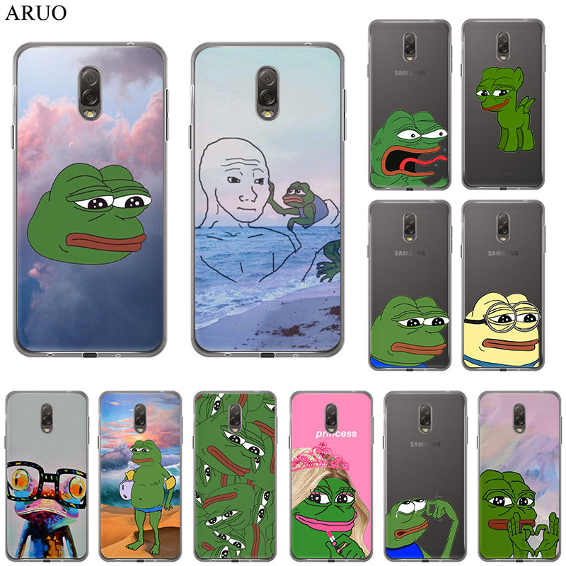 <font><b>Funny</b></font> The Frog Pepe memes face cute Soft TPU phone <font><b>case</b></font> for <font><b>Samsung</b></font> Galaxy A80 A70 A50 A90 <font><b>A20e</b></font> A40 A8s A9s A30 A60 A10 cover image
