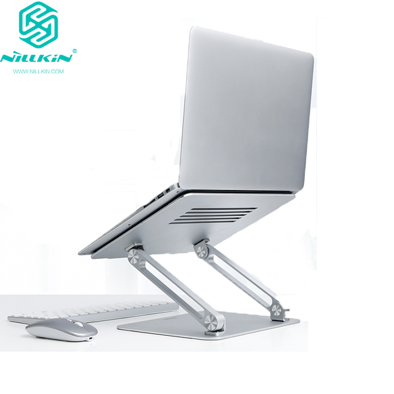 NILLKIN Aluminum Laptop <font><b>Stand</b></font> Foldable Free Lift Height/Anlge Adjustable <font><b>Notebook</b></font> <font><b>Cooling</b></font> Holder for MacBook Pro iPad image