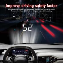 GEYIREN A100 HUD Head Up Display Car OBD2 II EU OBD Overspeed Warning System Auto Electronic Voltage Alarm Windshield Projector