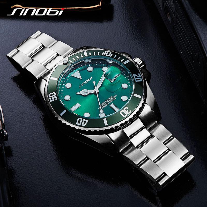 Image 3 - SINOBI Waterproof Calendar Convex Lens Luxury Top Brand Rotatable Bezel Sports Relogio Masculino Rolexable Men Quartz Watches 19watch brandwatch men quartz watchwatches quartz watche -