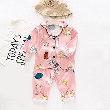 Kids Clothes Baby Pajama Sets for Boys Girls Cartoon Bear Print Outfits Set Short Sleeve Blouse Tops+Shorts Sleepwear Pajamas cartoon eye print tee and shorts pajama set