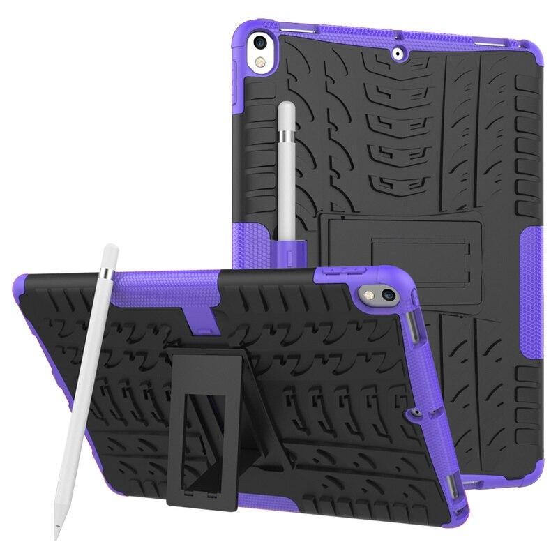 Сверхпрочный Силиконовый ТПУ + ПК жесткий защитный чехол с подставкой для iPad Pro 10,5 2017 Air 3 2019 ударопрочный задний Чехол для iPad 10,5 чехол Capa